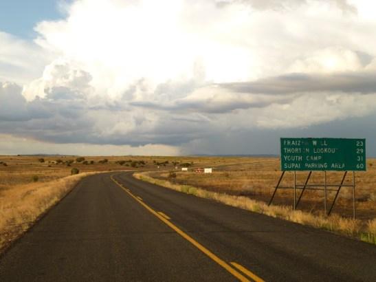 Road to haulapai hilltop