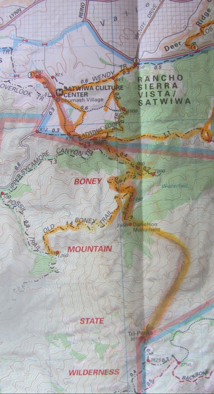 Mt. Boney map