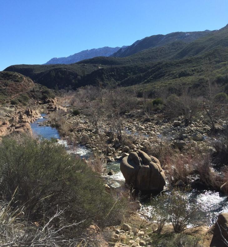 Rose Valley Sespe Creek big rock