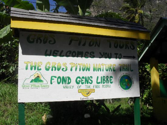 St. Lucia gros-piton-sign