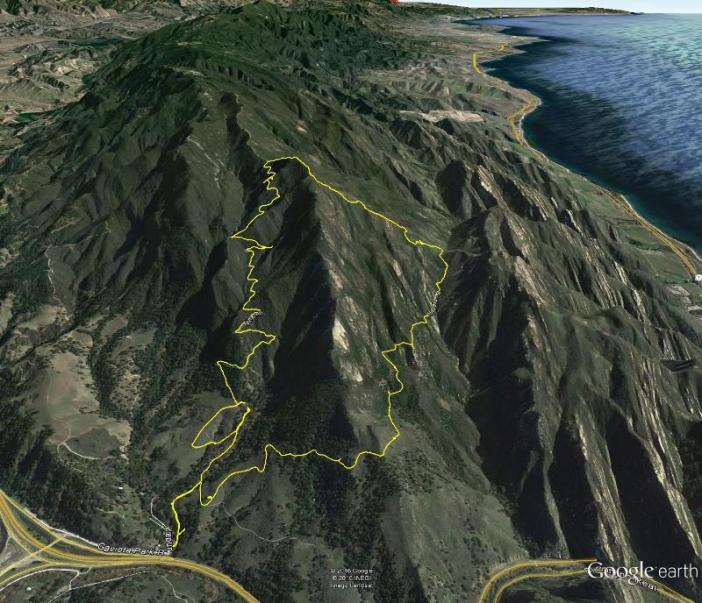 Gaviota Peak map google earth
