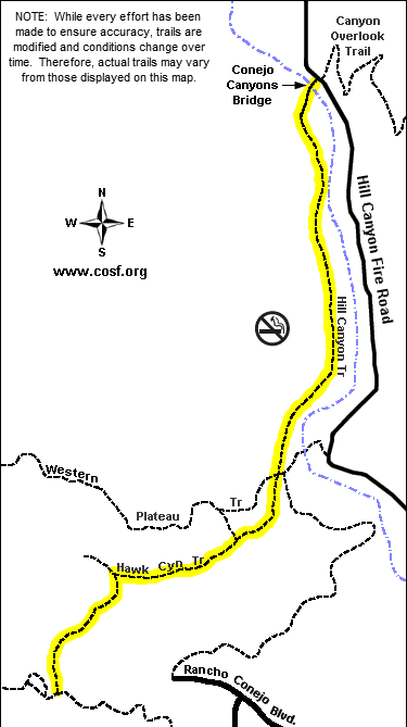 hill-canyon-hike map