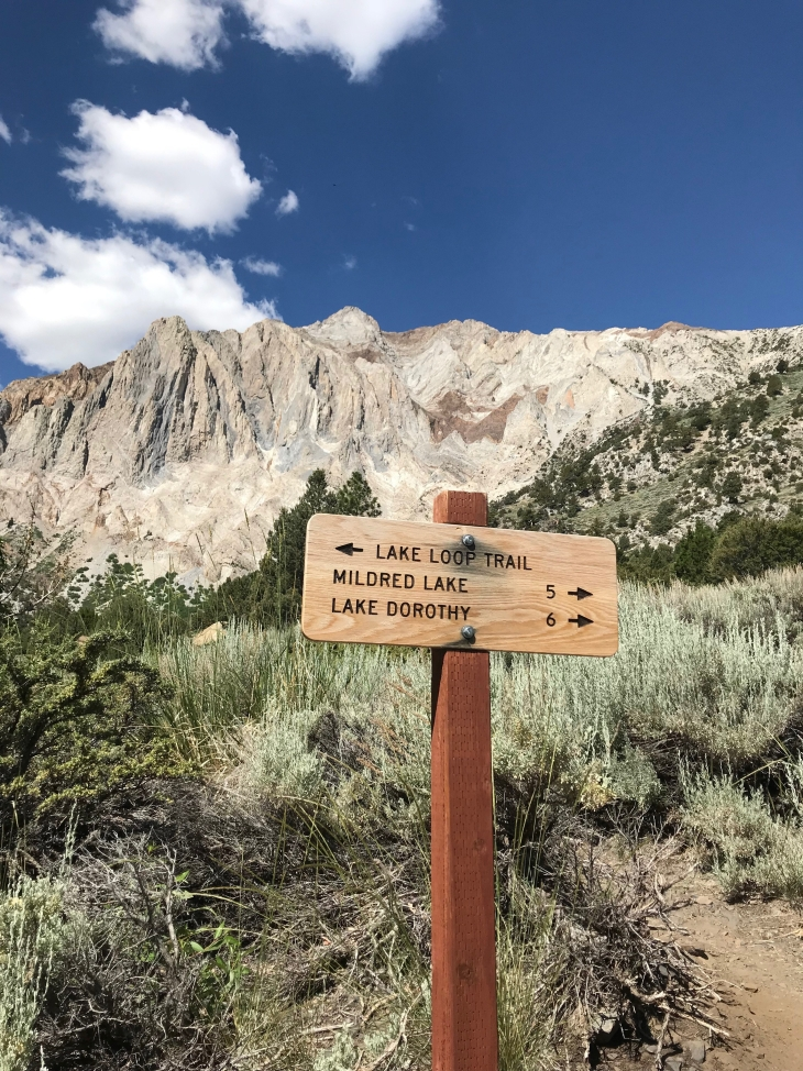 Convict lake sign